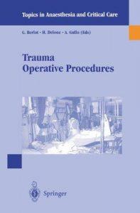Trauma Operative Procedures PDF